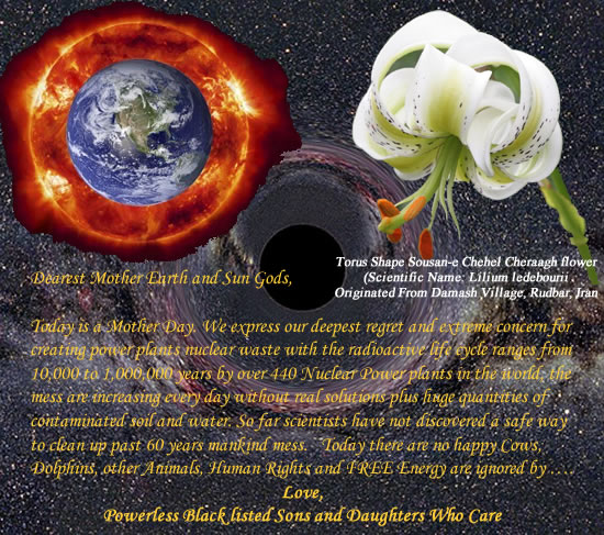 Mother Day Message to Mother Earth and Sun Gods